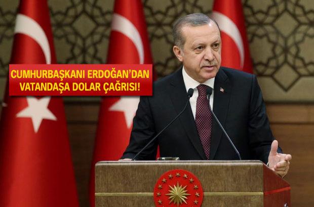 Erdoğan Yastık Altında Dolarlar biriktiren Vatandaşa seslendi: Bozdurun