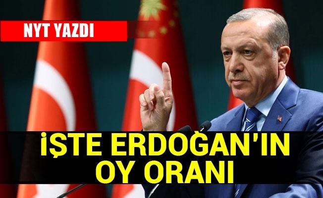 NYT, Erdoğan'ın oyunun yüzde kaç olduğunu yazdı