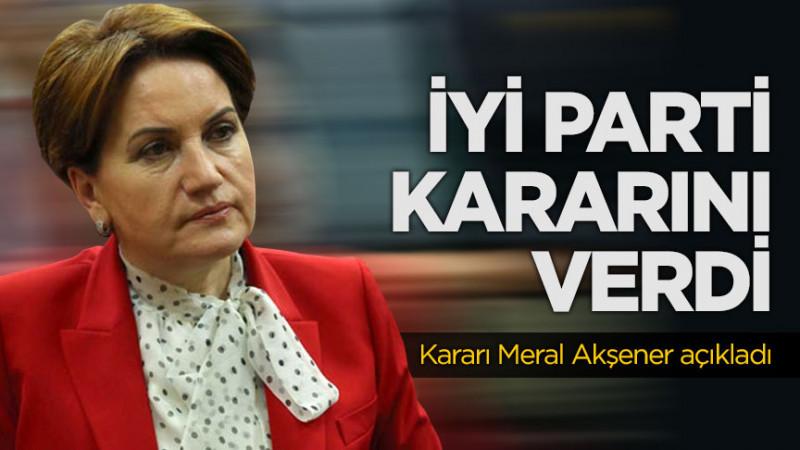 Meral Akşener'dan flaş adaylık açıklaması! Noktayı koydu...