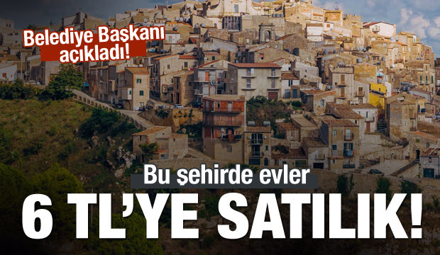 Belediyeden ilginç karar : Terk edilmiş evleri 6 TL'den satışa başladılar