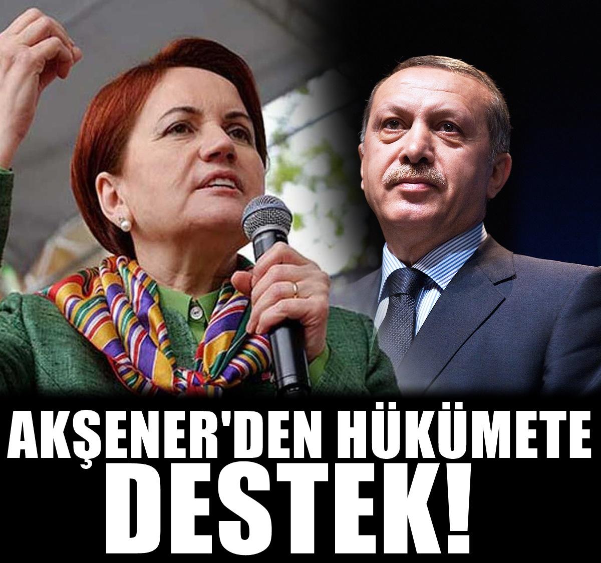 Meral Akşener'den hükümete destek açıklaması