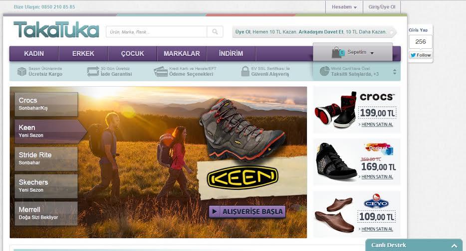 TakaTuka.com, Ayakkabı Dikeyinde Yükselen İvmesini Devam Ettiriyor!