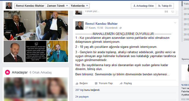 Muhtar Remzi Kandaz'ın mesajı olay oldu!