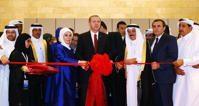 Erdoğan, uluslararası kitap fuarını açtı!