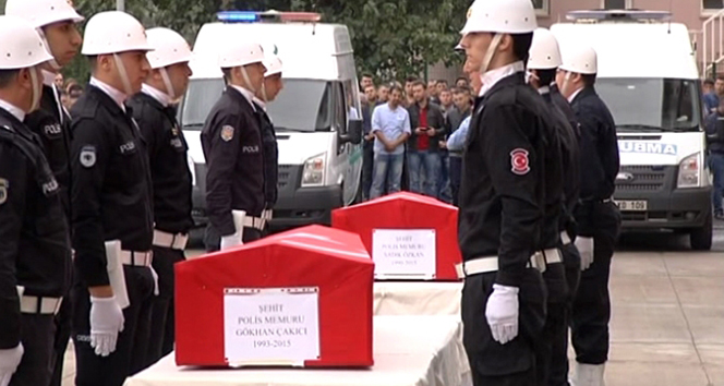 Şehit polisler memleketlerine uğurlandı