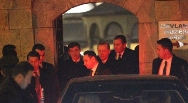 Erdoğan ve Davutoğlu Mevlana Müzesi'ni ziyaret etti