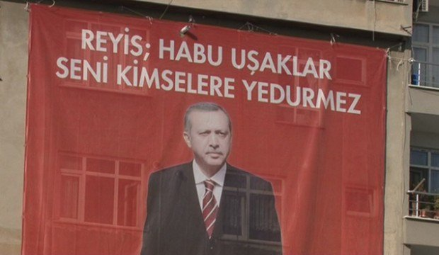 Erdoğan için ilginç pankart