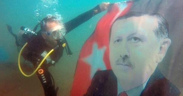 Erdoğan aşığı dalgıç
