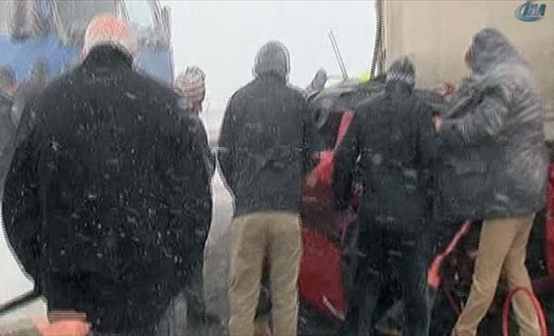 Silivri'de zincirleme kaza: TEM kapandı