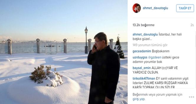 Davutoğlu'ndan sosyal medyada İstanbul paylaşımı!
