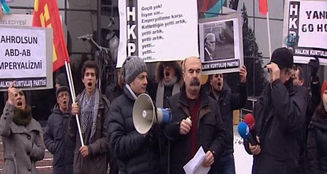ABD Büyükelçiliği önünde 'Biden' protestosu