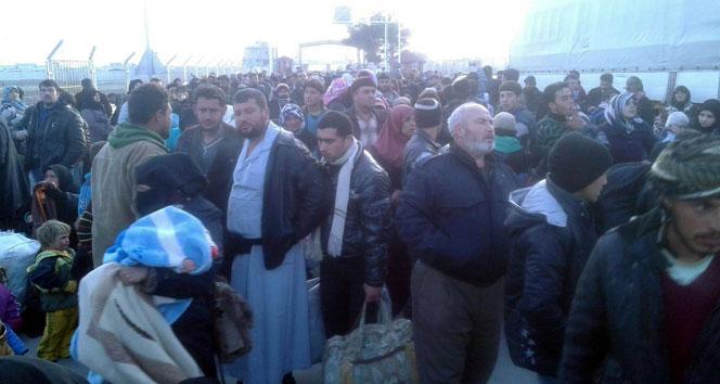 Suriyelilerin sınıra gelişi sürüyor