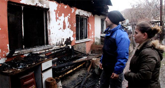 Bolu'da evi yanan ailelerin dramı