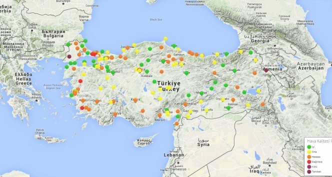 Türkiye'nin havası alarm veriyor