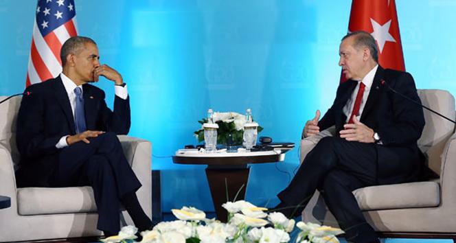 Cumhurbaşkanı Recep Tayyip Erdoğan, Obama görüşmesi sona erdi!