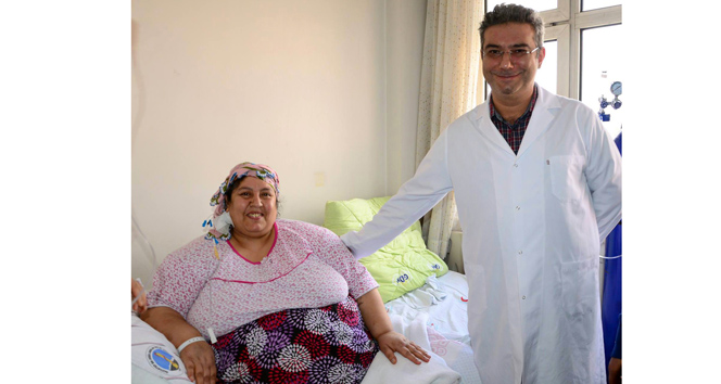 220 kilo olan kadının sevinci büyük