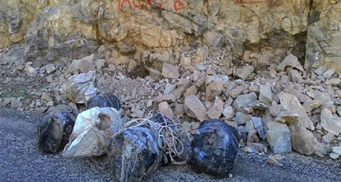 Tunceli'de 650 kilo patlayıcı ele geçirildi