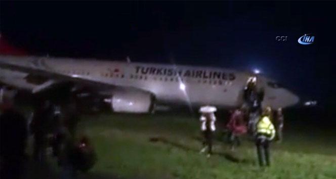 THY uçağı, Priştine'de pistten çıktı