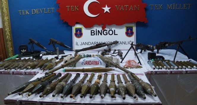 Bingöl'de örgütün silah depoları bulundu