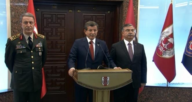 Davutoğlu Genelkurmay'da