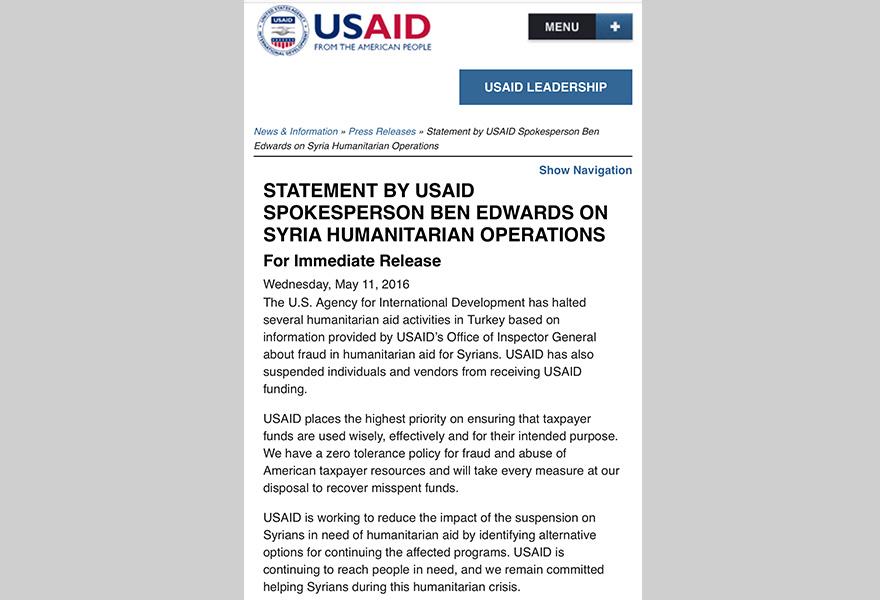 ABD, Türkiye'ye sığınmacı yardımını kesti