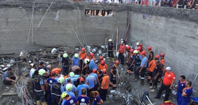 Havuz inşaatında inanılmaz kaza