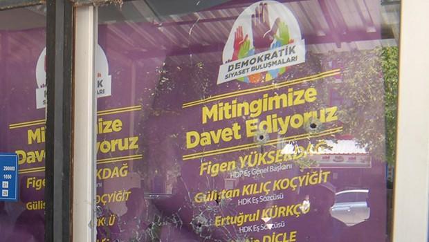 İzmir'de HDP binasına polis kurşunu!