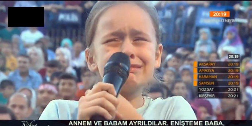 Minik kızın Hatipoğlu'na sorusu herkesi ağlattı