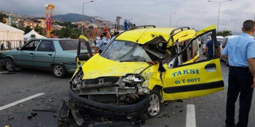 Trabzon'da korkunç kaza! Birçok sayıda..