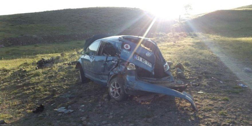 15 Yaşındaki çocuğun kullandığı araç takla attı