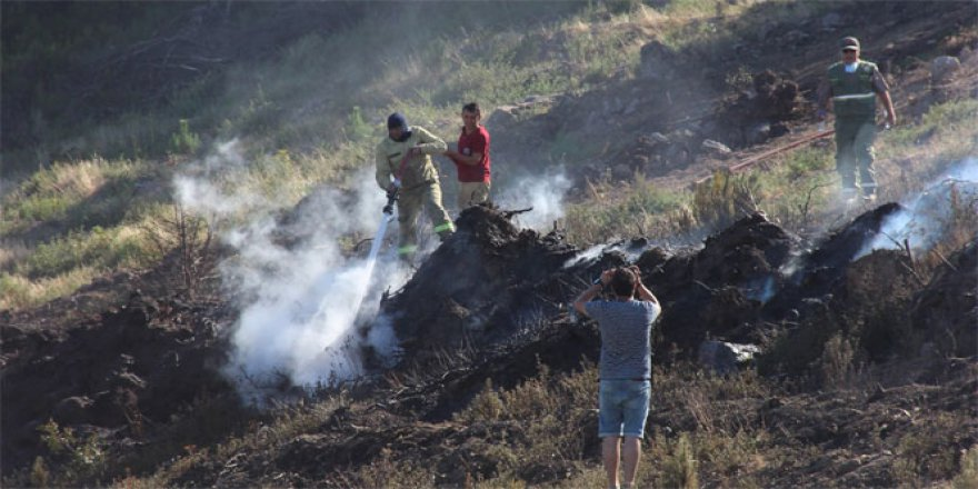 Çanakkale-Balıkesir sınırında orman yangını!