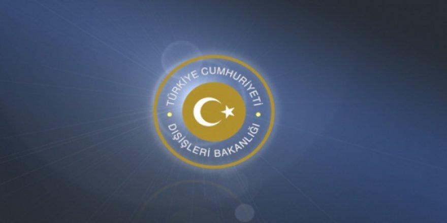 Dışişleri Bakanlığı'ndan Irak'taki terör saldırısına kınama!