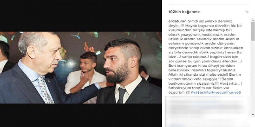 Arda Turan'dan Erdoğan övgüsü