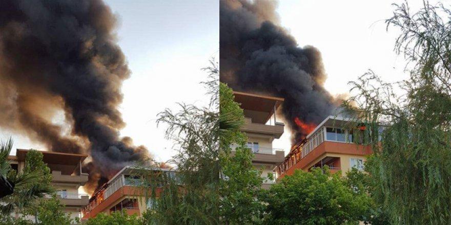Soma'da korkutan yangın! 2 kişi..