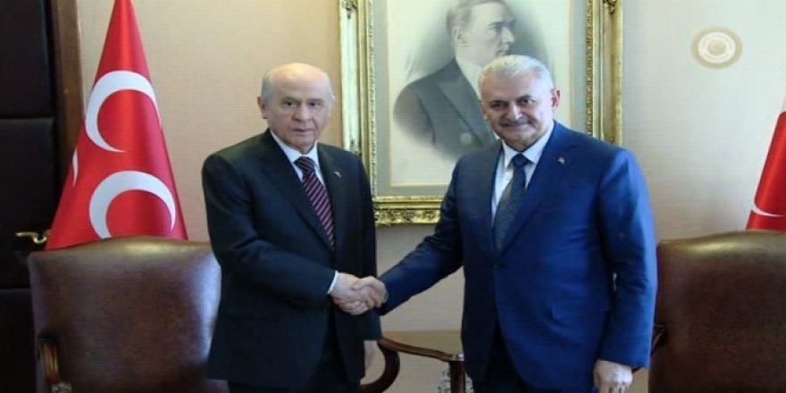 Başbakan Yıldırım ve MHP lideri Devlet Bahçeli bir araya geldi