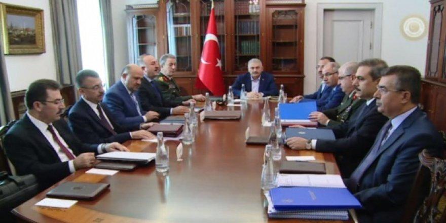 Başbakan Yıldırım başkanlığında Ankara'da kritik güvenlik zirvesi