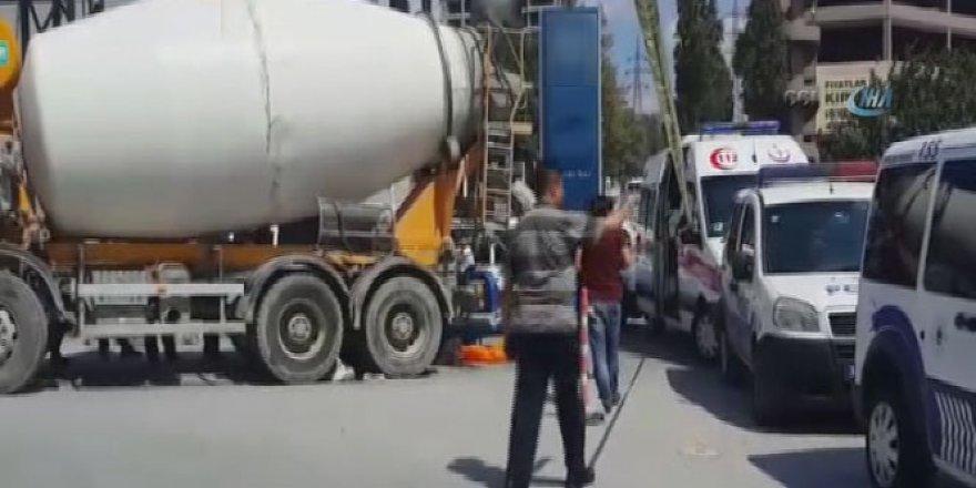İstanbul, Davutpaşa'da beton mikser dehşeti