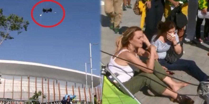 Rio 2016 Olimpiyat Oyunları'nda akıl almaz kaza!