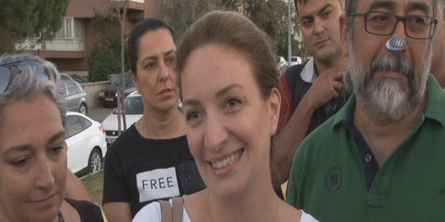 Yüzbaşı Murat Eren'in eşi tahliye kararı ardından cezaevine koştu