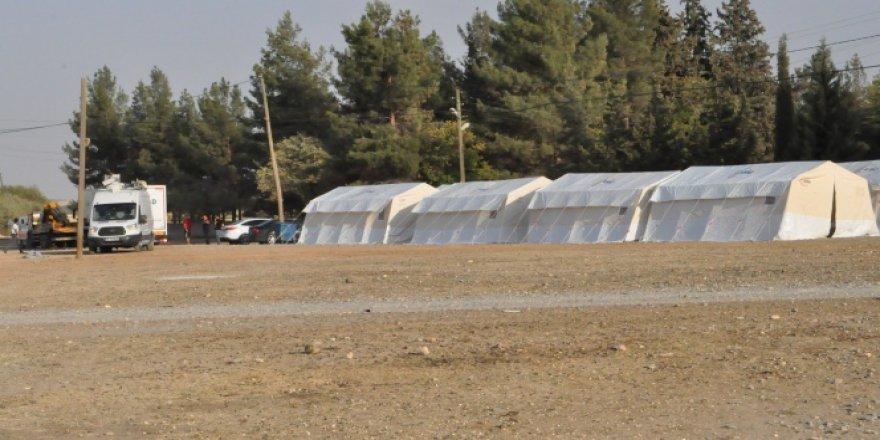 Gaziantep'te Suriye sınırına sahra hastanesi kuruldu