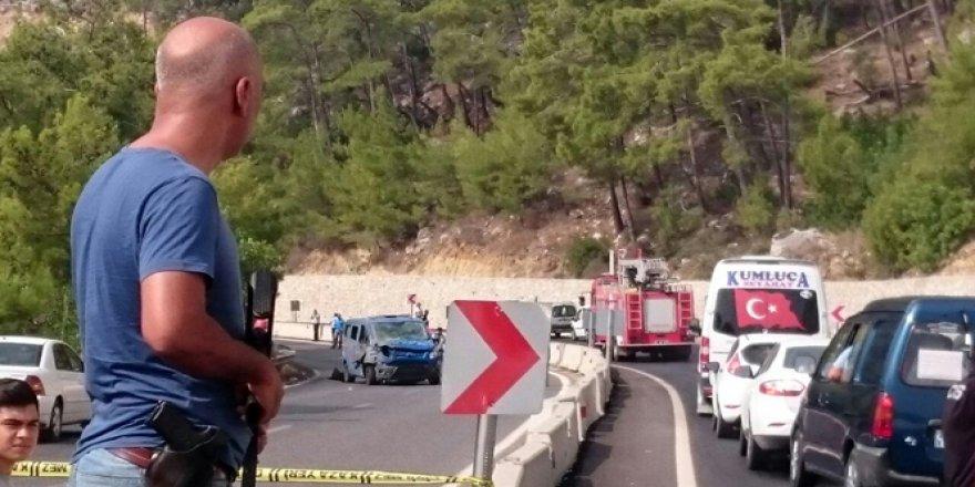 Antalya'da patlama: 2 asker yaralı