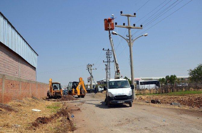 Diyarbakır'da 10 Fabrikaya Kaçak Elektrik şoku!