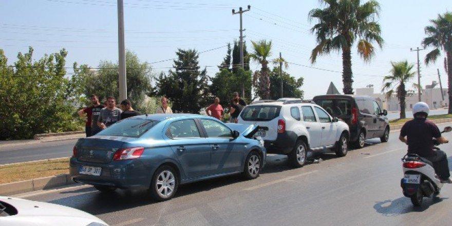 Bodrum'da kaza.. 3 Araç Birbirine Girdi