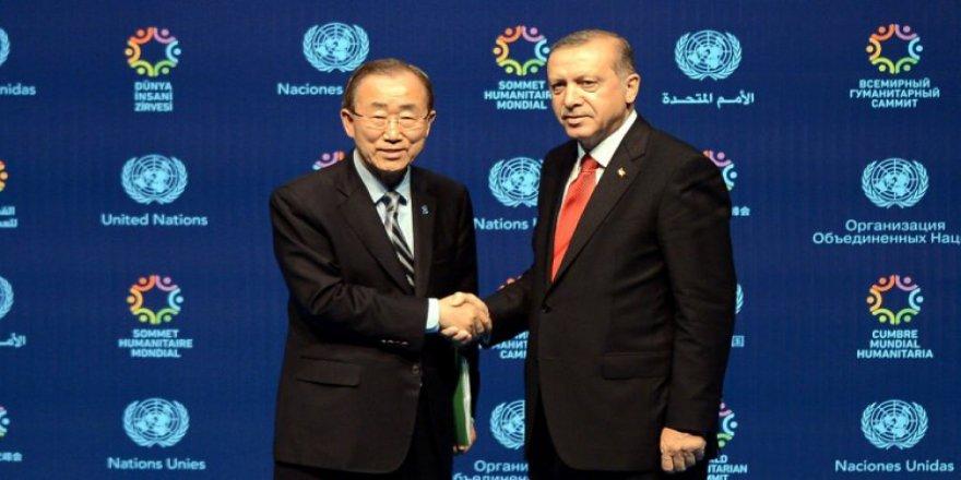 Erdoğan Ban Ki-moon'la bir araya geldi