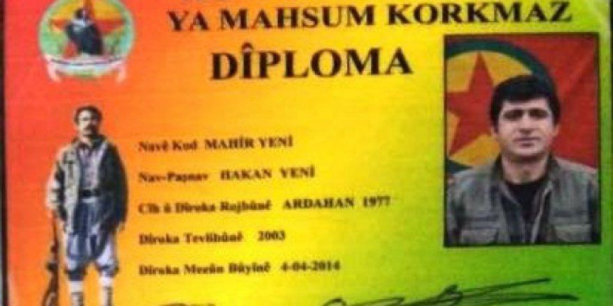 PKK'nın Tendürek sözde bölge sorumlusu ölü ele ele geçirildi!