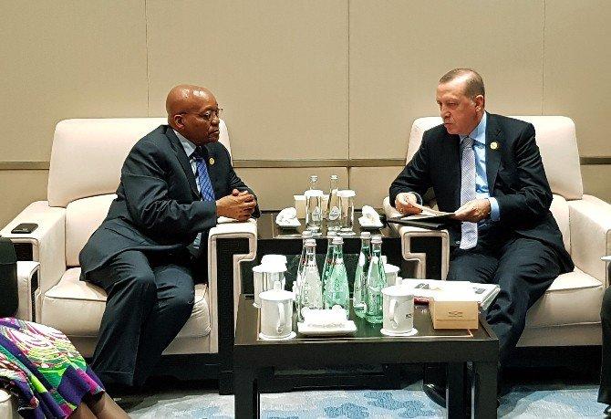 Cumhurbaşkanı Recep Tayyip Erdoğan, Zuma İle Görüştü
