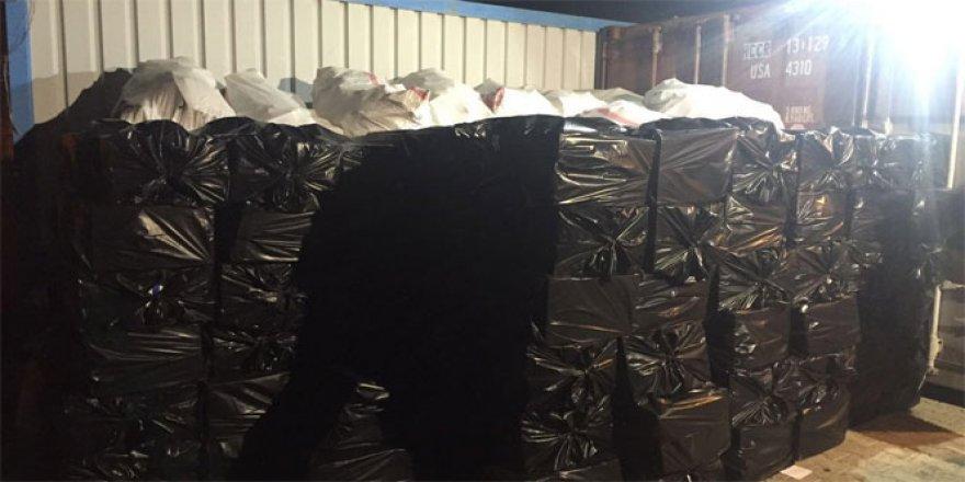 Van'da 138 bin paket kaçak sigara!