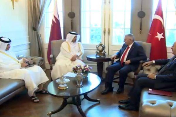 Başbakan Katarlı Mevkidaşıyla Görüştü