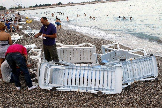 Antalya'da Cesede Şezlonglu Perdeleme