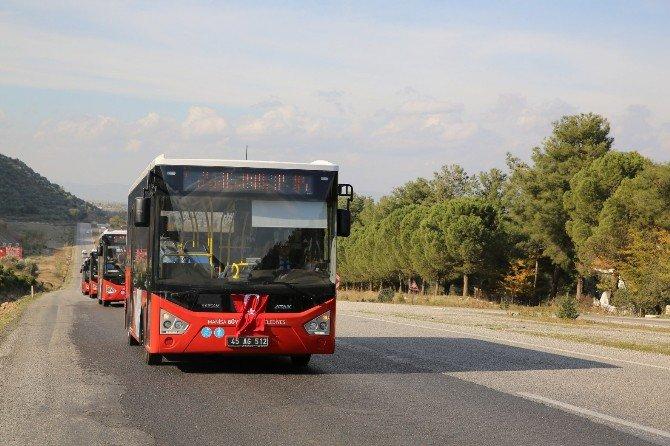 Manisa'da Kırmızı Otobüsler Bayram Boyunca Ücretsiz